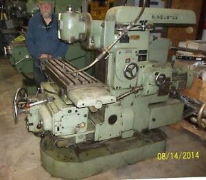 Horizontal Universal Milling W Tos 360 Vertical Head 11 X 43 Table