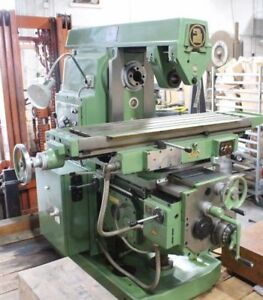 Milling Machine 13 X 52 Hor Universal New Xyz Power Rapids Tooling
