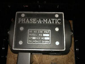 Phase a matic Rotary Phase Converter