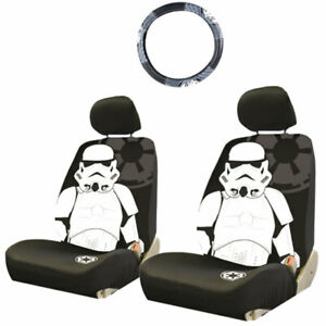 For Ford Star Wars Stormtrooper 3pc Car Seat And Steering Wheel Covers Set