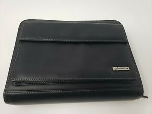 Franklin Covey Black Small Planner Organizer 7 Ring Binder Card Holder