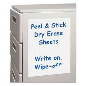 C line Peel And Stick Dry Erase Sheets 17 X 24 White 15 Sheet 038944577241