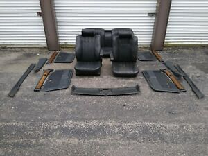 Bmw E23 Black Leather Interior Seats Trim Door Panels 745i 735i E28