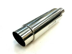 Universal 2 5 Inlet Screamer Series Hf07a Muffler With Slant Cut Tip By Obx
