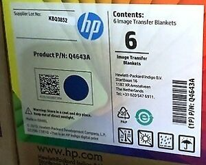 Genuine Hp Indigo 7000 Blanket q4643a 6 Pcs