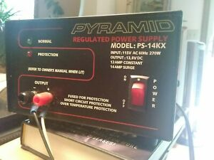 Pyramid Regulated Power Supply Model Ps 14kx Output 13 8v Dc 12 Amp Constant
