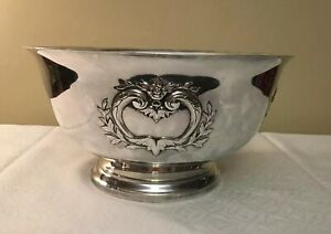 Webster Wilcox International Silver Co Silverplate Footed Bowl 336 12