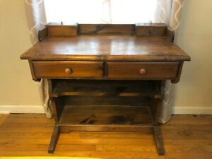 Vintage Wood Desk For Office Or Work From Home