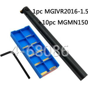 Mgivr2016 1 5 Partting Grooving Cut off Tool Holder 10pc 1 5mm Width Mgmn150 g