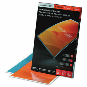 Swingline Fusion Ezuse 11 5x17 5 5 Mil Laminating Pouches 100 Ct Uv Protection