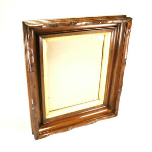 Antique Carved Walnut Deep Well Picture Frame C1890