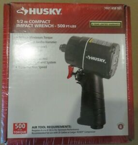 Husky 1 2 In Compact Impact Wrench 500 Ft Lbs H4435 Brand New Free Shipping