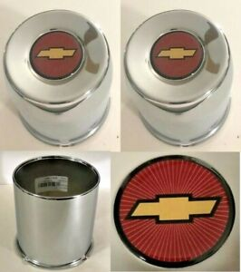 4 Double Blems Wheel Center Caps 4 25 For Chevy 6 Lug 6 X5 5 Truck 4wd Bowtie