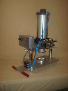 Brand New Inline Pie Press With A Die Set For 4 1 2 Pan