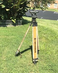 Brunson Transit 556003 With Wooded Box And Adjustable Legs Tripod