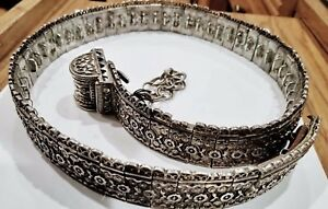 Antique Russian Caucasian Georgian Silver Belt Marked 84 Weighs 696 Grams
