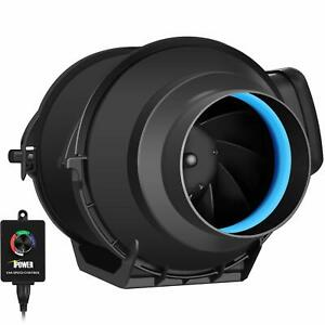 Ipower 4 Inch 150 Cfm Inline Duct Fan Variable Speed Controller Hvac Blower Kit