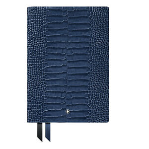 Montblanc Fine Stationery Notebook Leather Print Blue Violet Write Man 118026