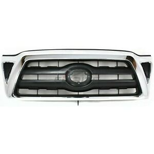Front Grille Black For 2005 2010 Toyota Tacoma Pickup To1200268