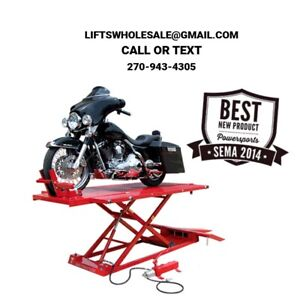 Titan 1 500 Lbs Extra Long Tall Motorcycle Lift Front Side Extensions
