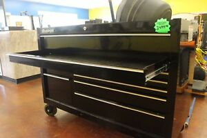 Snap On Kra2422pc Roll Cab Classic Double Bank 10 Drawers Gloss Black Tool Box