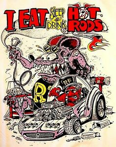 Rat Rod Hot Rod Sticker Rat Fink Vintage Racing Tool Box Gas Oil Snap On