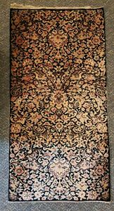 Vintage Old Deco Whittall Anglo Persian Wilton Rug 54 X 27