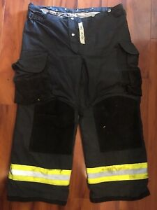 Firefighter Janesville Lion Apparel Turnout Bunker Pants 40x30 06 Black Costume