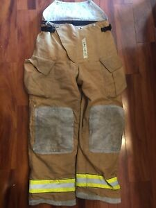 Firefighter Turnout Bunker Pants Globe 38x34 2007 Bib Style Halloween Costume