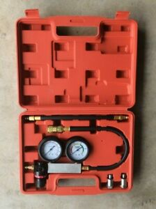 Cylinder Leak Tester Detector Engine Compression Lost Test Gauges With Case