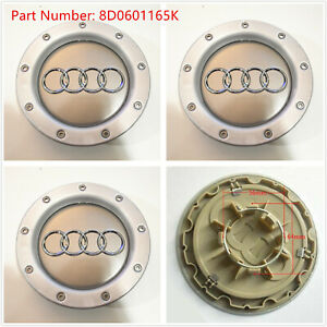 4x Audi 146mm Couple Caps Wheels Rims Center A4 A6 S6 A8 Tt 8d0601165k
