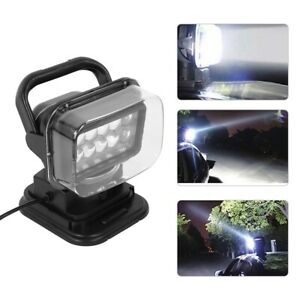 Universal Car 50w 6000k Led Remote Search Light And Magnetic Base 360 Spotlight