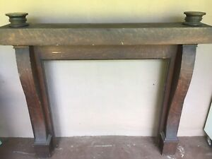 Wood Fireplace Mantel Vintage Decor 5ft Wide By 53 Inches Tall