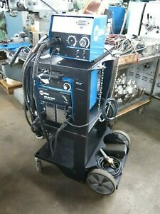 Miller Xmt 304 Welder With Miller 22a Wire Feeder On Factory Cart