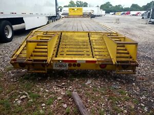 2014 Yellow Lone Wolf 40 Foot Gooseneck Trailer With Ramps 7000