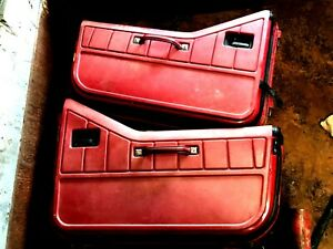 Jeep Yj Half Hard Doors 87 95 Wrangler Cj7 Left Right Passenger Driver Red Panel