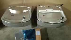 Elkay Lzs8wsvrlk Bi level Drinking Fountain Without Bottle Filler New