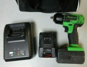 Snap On Green Impact Wrench Ct8810bg 3 8 Drill W 2 Bats And Chrg But No Cord