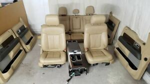 11 12 13 14 F150 Lariat Tan Leather Seats Console Door Panels Complete Interior