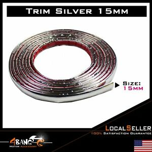 15ft Car Moulding Strip Chrome Trim Edge Decorative Body Side Roof Silver Style