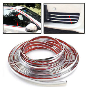 12mm Car Styling Chrome Decorative Strip Door Window Mirror Body Molding Sticker