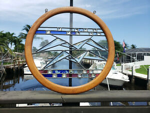 Round Beveled Stained Leaded Glass Window