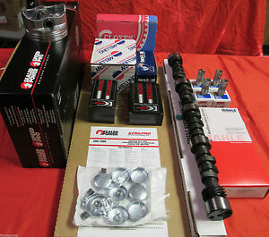 Buick 350 Master Perf 469 Lift Engine Kit High Compr W comp Cam Pistons Gaskets