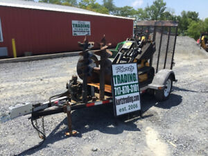2013 Morbark Boxer 320 Stand On Skid Steer W Attachments Trailer Only 1000hrs