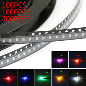 0805 Smd Smt Led Red Green Blue Yellow White Orange Purple 7colours Light T2