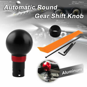 Round Gear Shift Knob Shifter Button Universal Automatic Transmission Silver