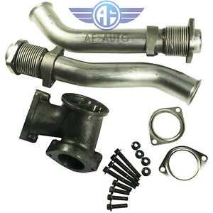For Ford 99 03 7 3l Power Stroke Turbo Diesel With Hardware Bellowed Up Pipe Kit