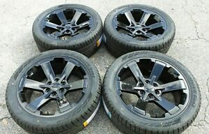 22 Black Tahoe Silverado Wheels Tires Rally Midnight Suburban 5662 Ck162 Rims