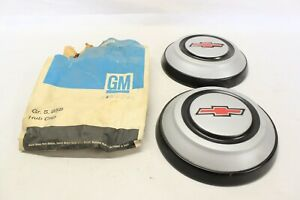 Nos 1968 Chevrolet C10 Truck Painted Steel Dog Dish Hubcap Pair Oem Gm 3930244