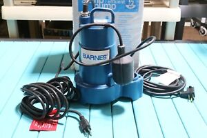 Barnes Crane 1 2 Hp Heavy Duty Cast Iron Submersible Sump Pump Float Switch